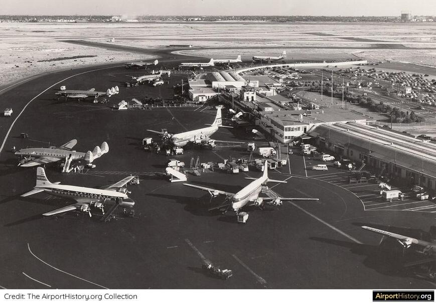 New York Idlewild Airport in 1954
