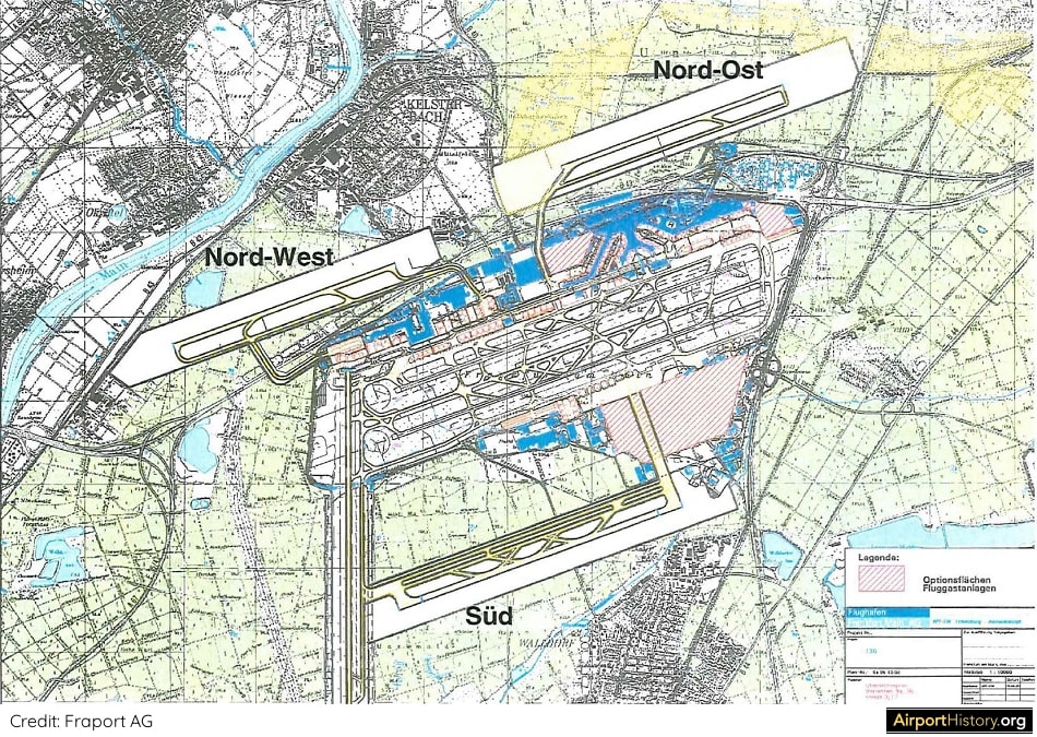 Frankfurt Airport fourth runway options
