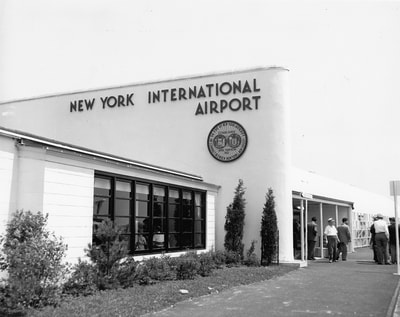A view of the Federal Inspection Facility at New York's Idlewild Airport in 1948