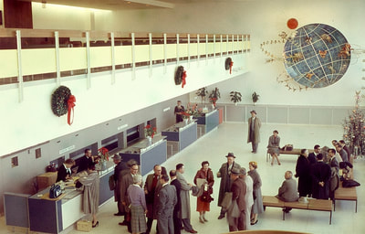 The KLM departure station in the IAB