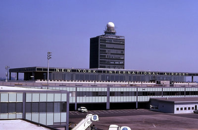 An early 1960s airside exterior view of the IAB.
