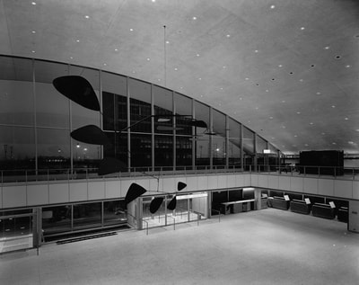 An interior view of the arrival hall of the IAB.