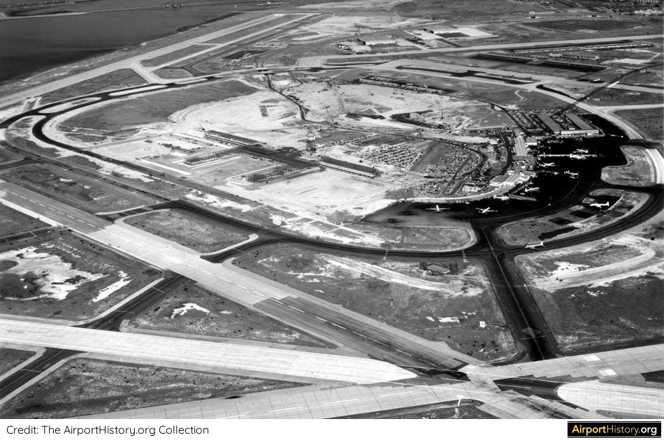 A 1956 aerial image of Idlewild Airport