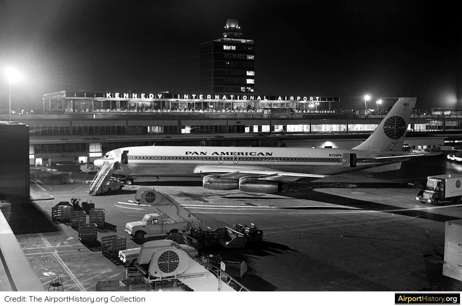 A night view of the IAB at New York's Idlewild Airport