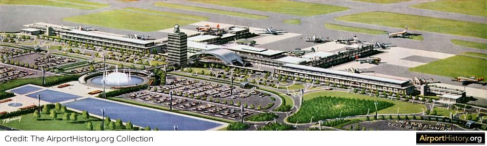 New York Idlewild Kennedy JFK International Airport Arrivals Building IAB Wing SOM History Historic