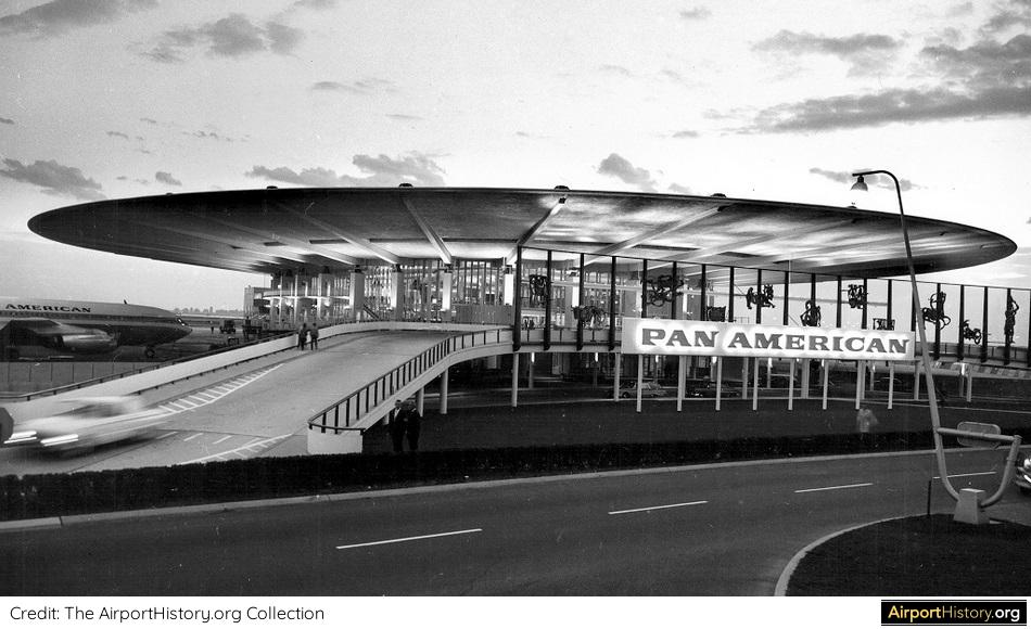 The Pan Am terminal at New York's Idlewild Airport