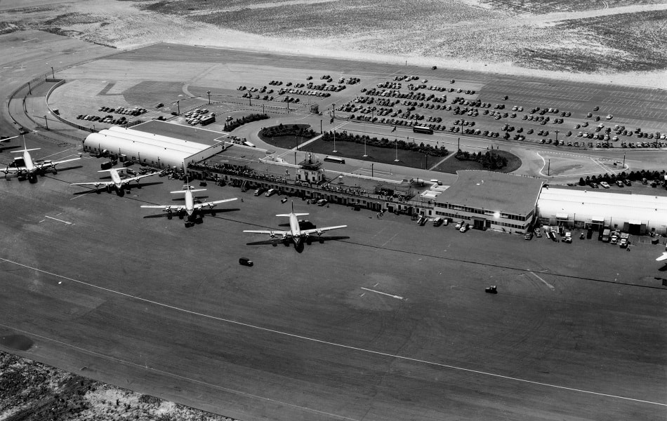 An aerial of Idlewild Airport in 1949