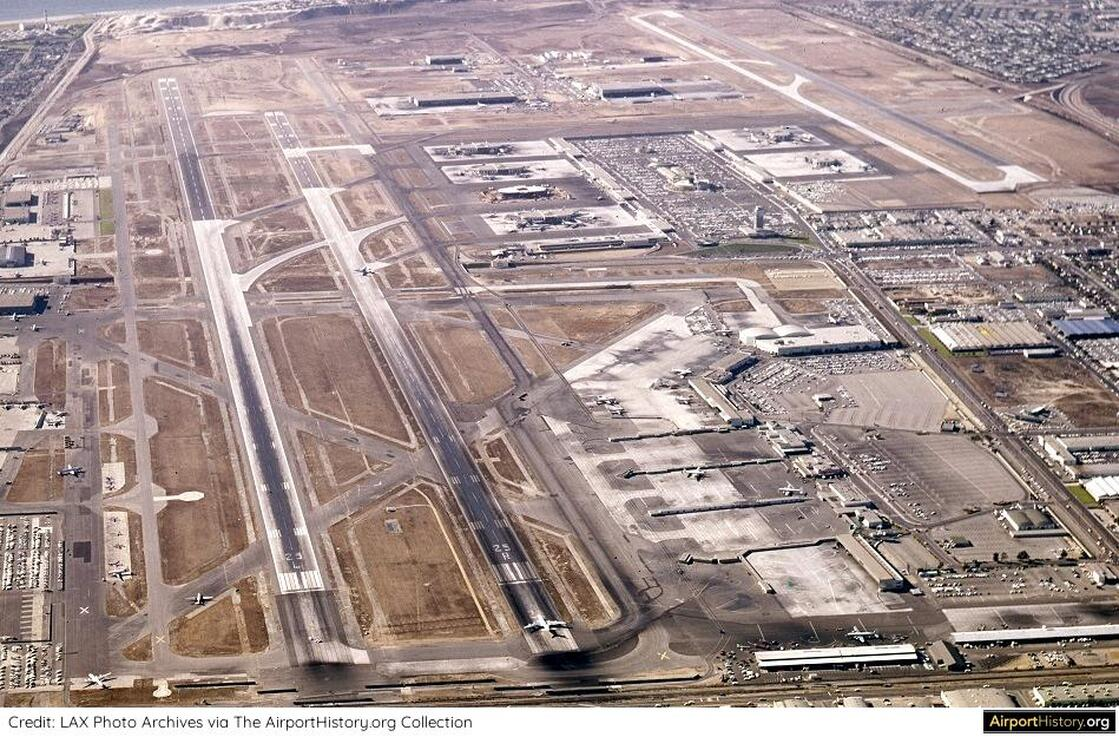 A 1961 aerial of LAX