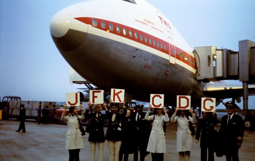 Paris Airport Aeroport Orly Roissy Charles de Gaulle Opening First Flight TWA New York 1974