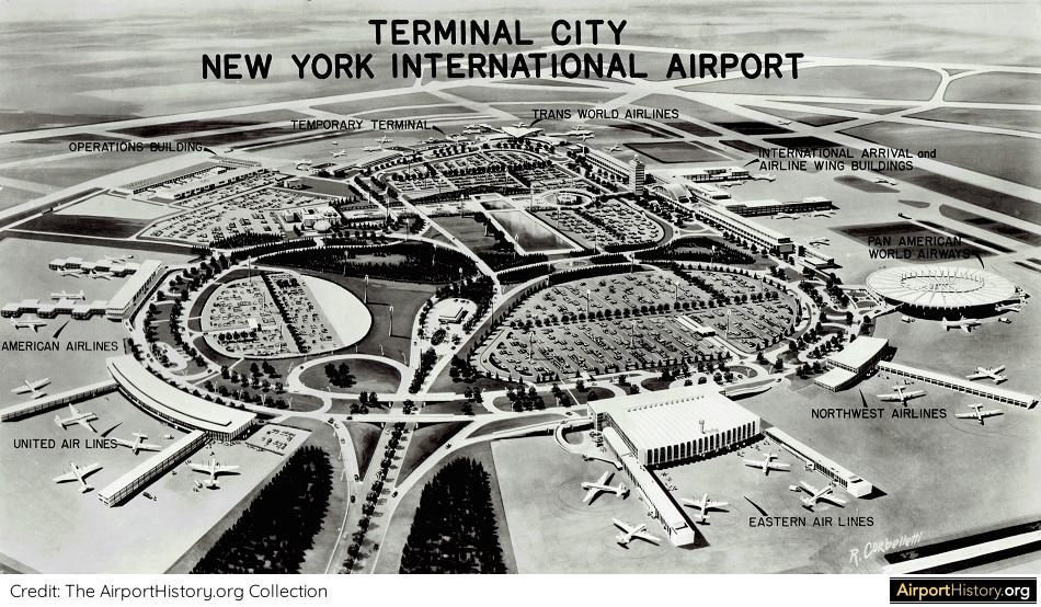 An artist's impression of the future Terminal City at Idlewild Airport