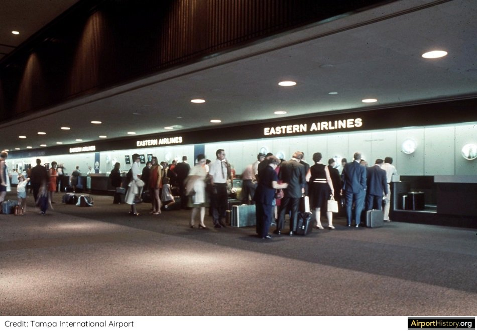 Eastern Air Lines check in at Tampa International Airport.